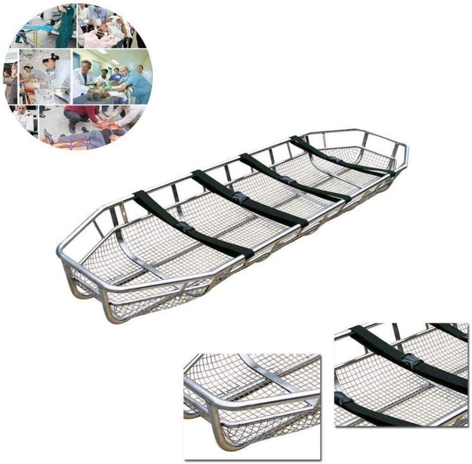 TONGSH Portable Stretcher Stainless Steel Basket Stretcher/Helicopter Rescue Stretcher