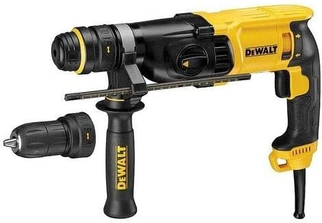 DeWalt 28mm, 900W, VSR, Compact SDS-plus Hammer with Quick-release chuck, Yellow/Black, D25144K-B5, 3 Year Warranty