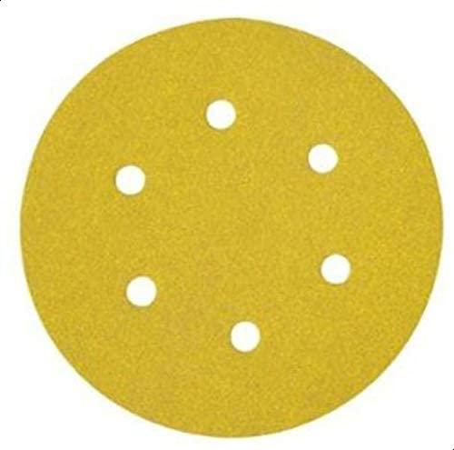 DeWalt 150mm Sanding Disc Multipuepose Wood/Paint- Dry- GT80, Yellow/Black, DT3123-QZ