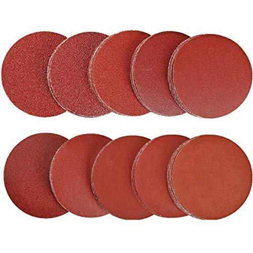 Sanding Discs Pads - WENTS 100Pcs 50mm Wear-Resistant Sandpaper(80/100/180/240/600/800/1000/1200/2000/3000) for Random Orbital Sander