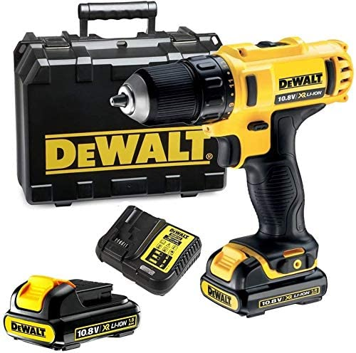 DeWalt 12V 10mm Subcompact Hammer Drill Driver With extra battery, Yellow/Black, DCD716D2-B5, 3 Year Warranty