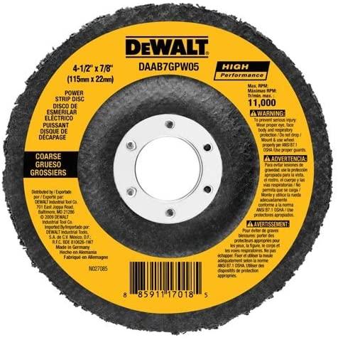 DEWALT DAAH7GPW05 4-1/2-Inch by 5/8-Inch-11 Power Wheel Flap Disc
