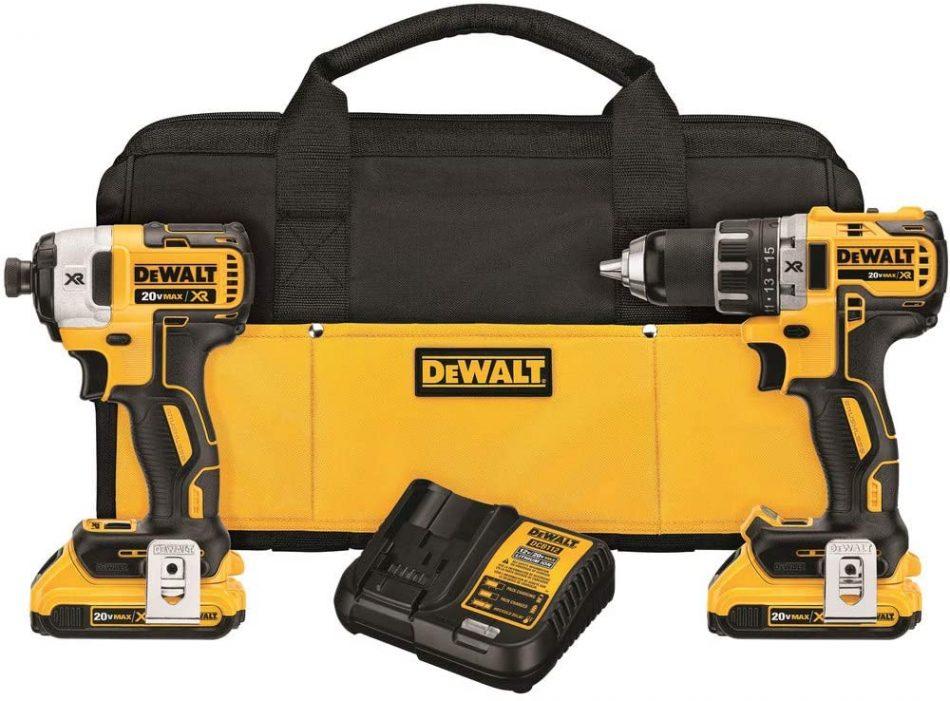 DEWALT 20V MAX* XR Cordless Drill Combo Kit, Brushless, 2-Tool (DCK283D2)