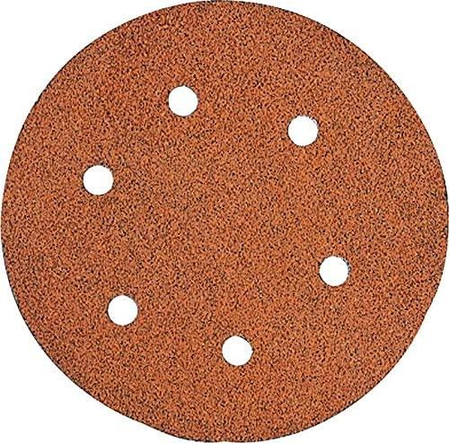 DEWALT DW4331 6-Inch 6-Hole 80-Grit Hook and Loop Random OrBit Sandpaper (5-Pack)
