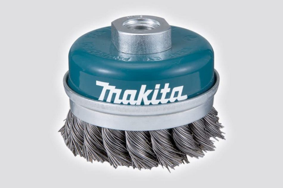 Makita D-24125 Twisted Steel Wire Bowl Cup Brush, 75mm Diameter, M10 x 1.5 Shank Size