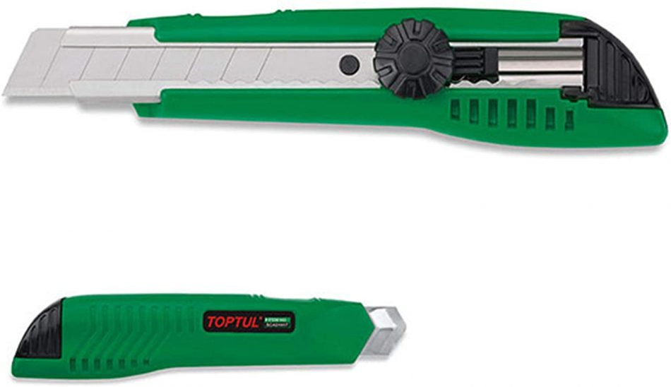 TOPTUL - Utility Knife With 2 Spare Blade - SCAD1817