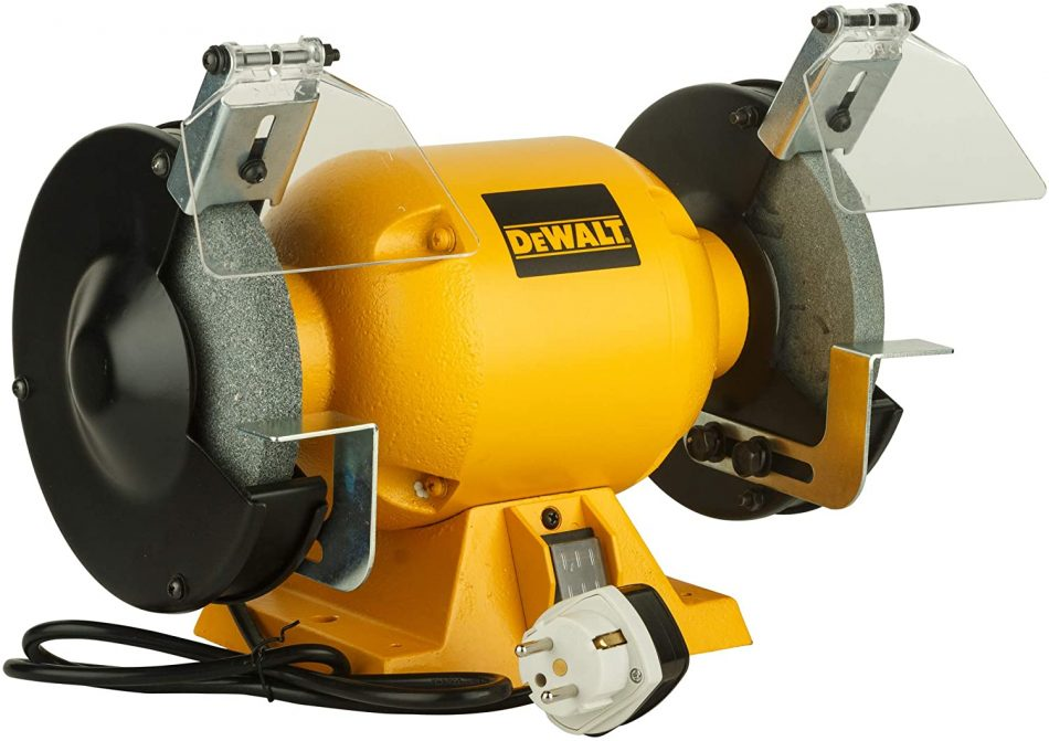DeWalt 373W 150MM 6inch Bench Grinder, Yellow/Black, DW752R-B53 Year Warranty