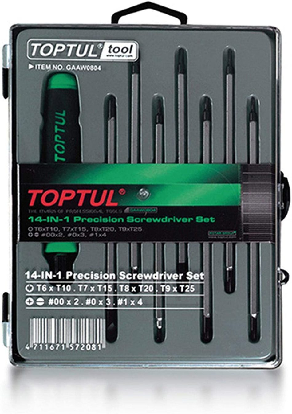 TOPTUL - 8PCS 14-In-1 Precision Screwdriver Set - GAAW0804
