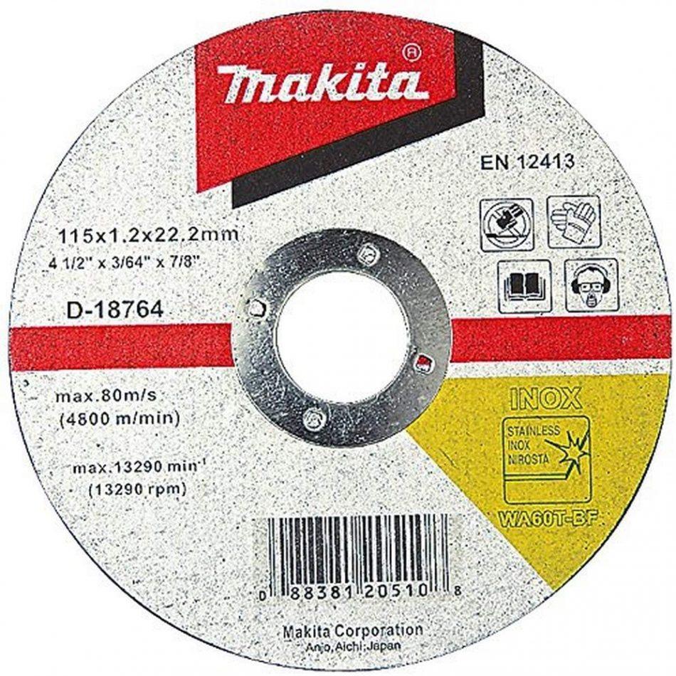 Makita B-12239 Thin Cutting Wheels - Flat Center (B-series) 125x1.0x22.23mm