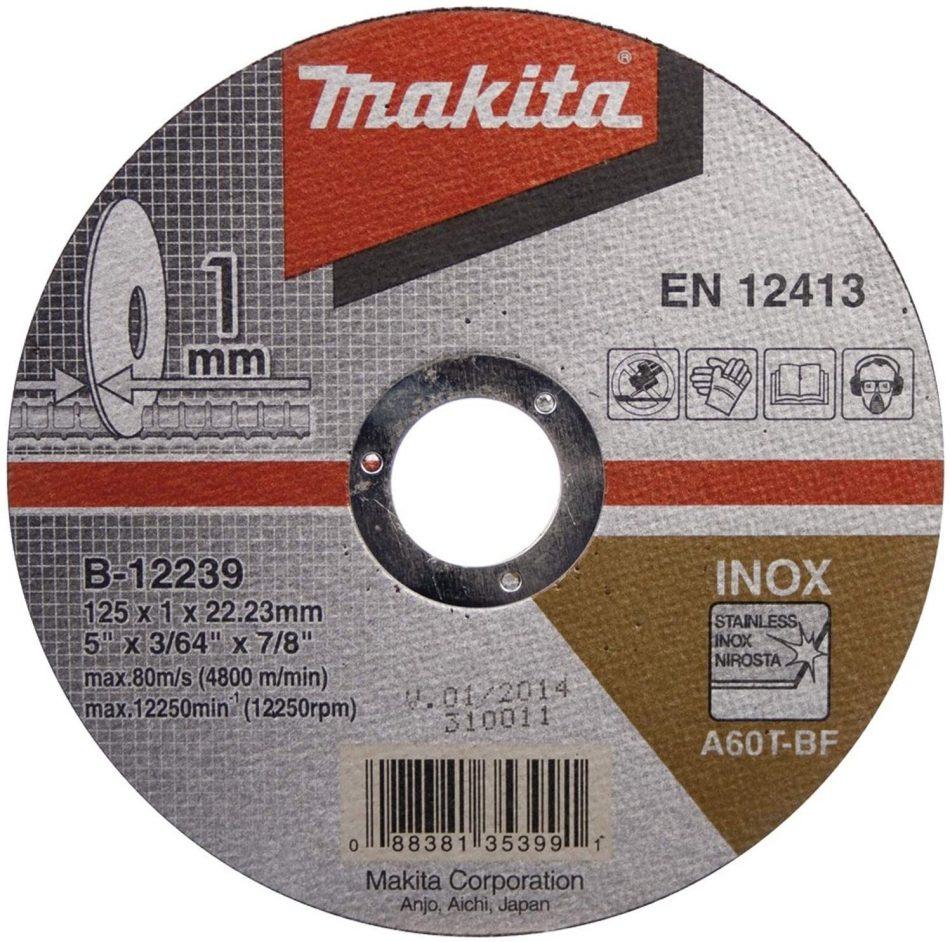 Makita B-12217 Thin Cutting Wheels - Flat Center (B-series) 115x1.0x22.23mm