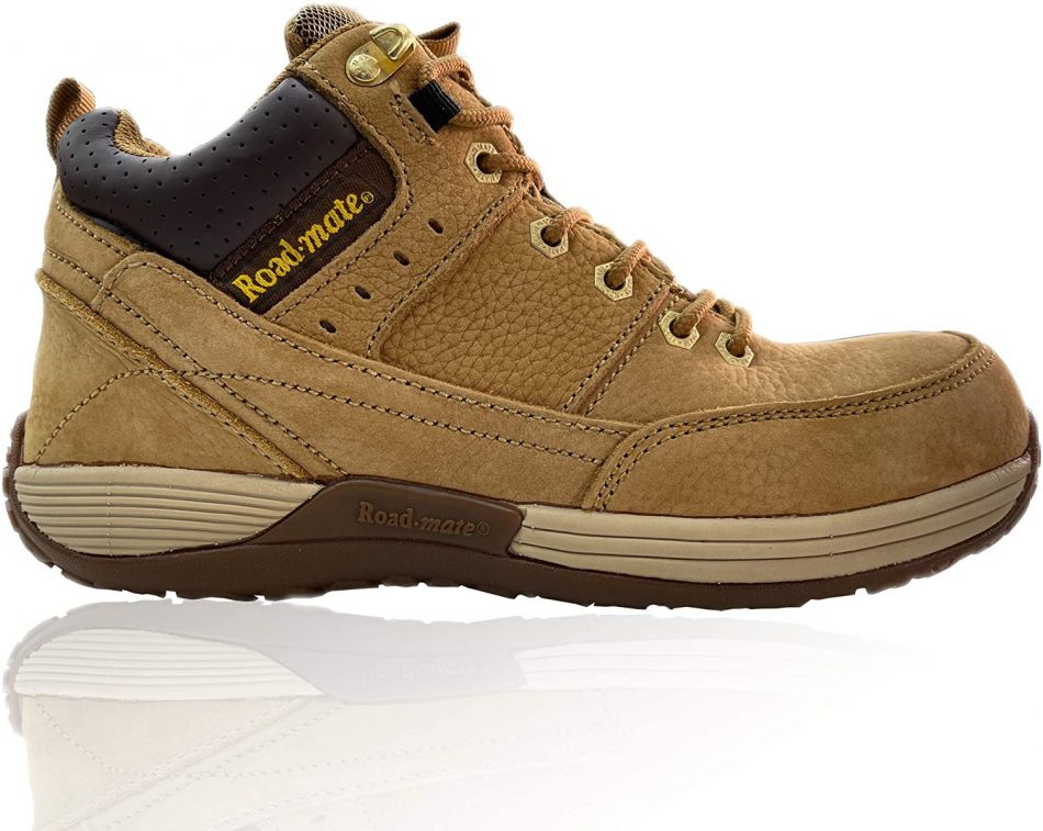 ROAD MATE Men's Slip Resistant Steel Toe Safety Shoes | Genuine Leather |