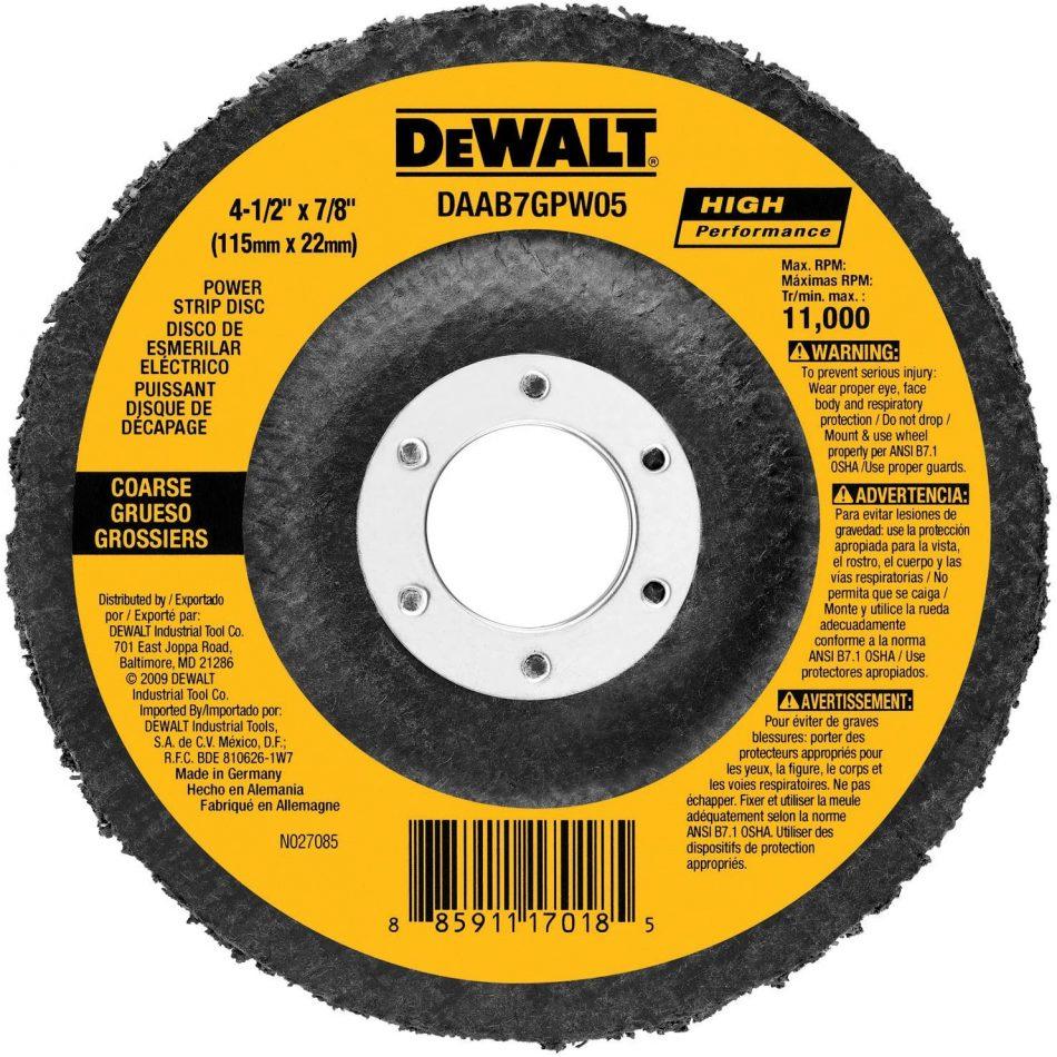 DEWALT DAAB7GPW05 4-1/2-Inch by 7/8-Inch Power Wheel Flap Disc