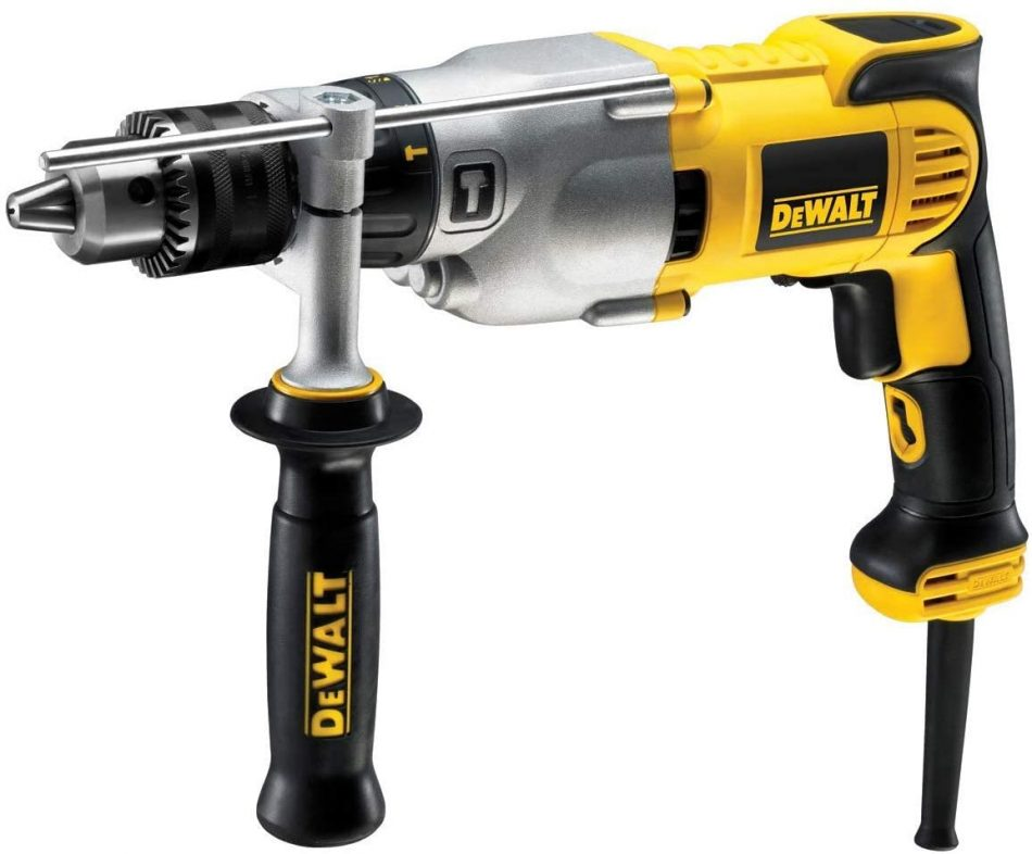 DeWalt 16mm, 2 Speed Dry Diamond Drill with Keyed Chuck, Yellow/Black, D21570K-B5, 3 Year Warranty